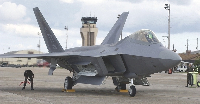 An early production  F-22A at Tyndall AFB