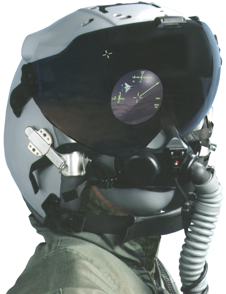 JHMCS attached to helmet