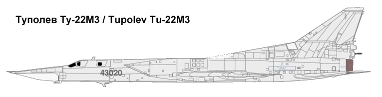 Tupolev Tu-22M3 Backfire C- Click for more ...